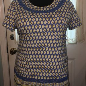 Size XL Kim Rogers Summer Cotton Top.